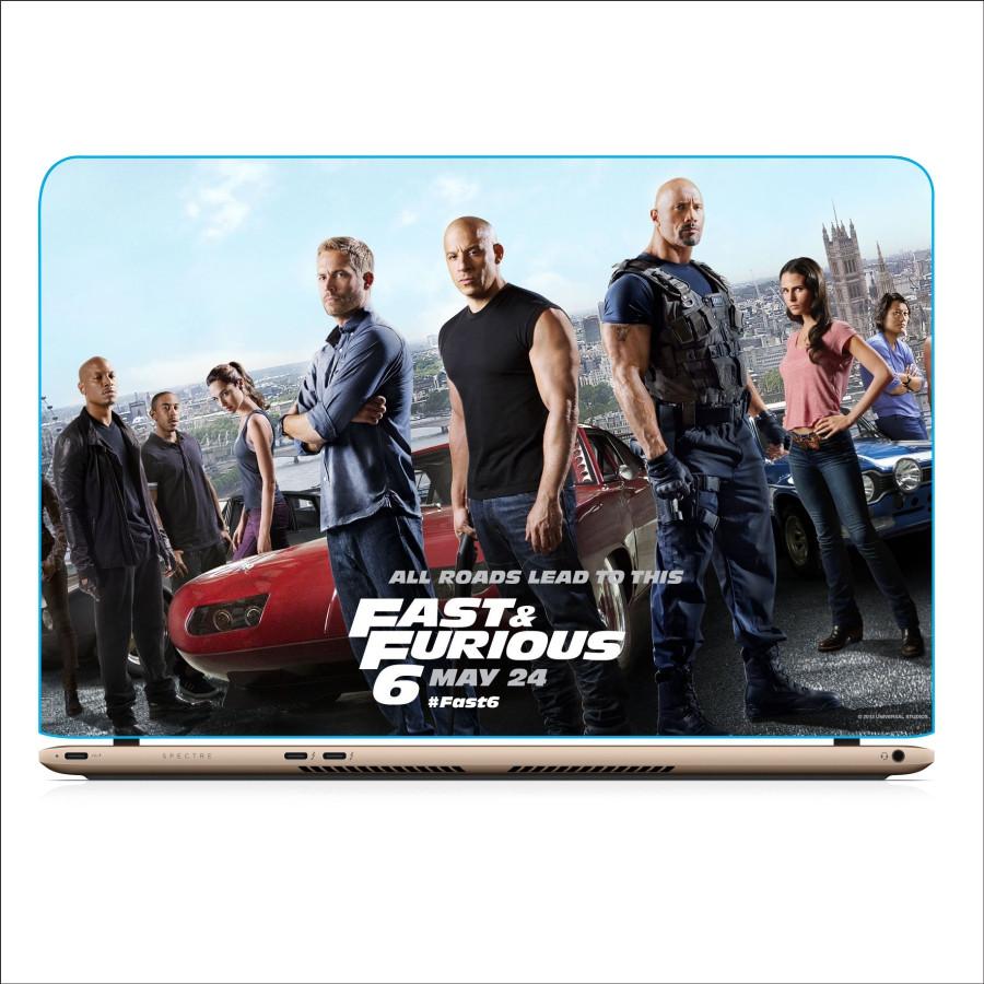 Miếng Dán Skin In Decal Dành Cho Laptop - Fast and Furious - Mẫu 7