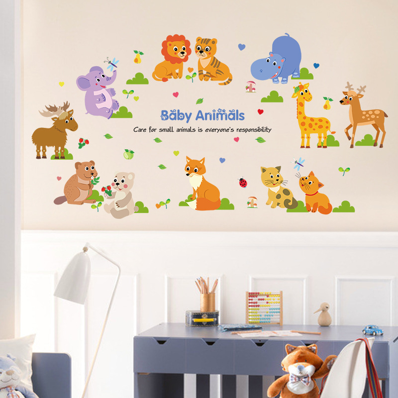 Decal dán tường Babies Aniaml