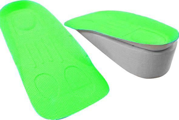 Lót giày tăng chiều cao mút xốp v.2 cao 3 cm (Màu Xanh Lá Cây)