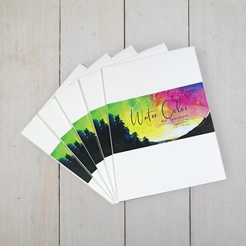 Giấy vẽ màu nước A5 - dòng giấy vẽ màu rực rỡ vân phớt nhẹ (15 tờ/túi)
