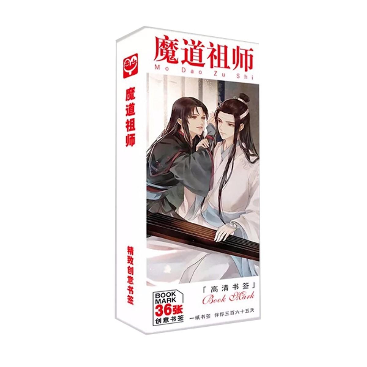 Bookmark ma đạo tổ sư 36 tấm (Tặng móc khóa gỗ BTS thiết kế độc quyền)