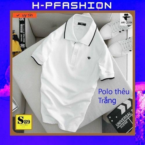 Áo Thun Nam Ngắn Tay Có Cổ     Áo Phông Nam Đẹp Vải Thun Co Giãn Thời Trang Hpfashion - Atnhp012