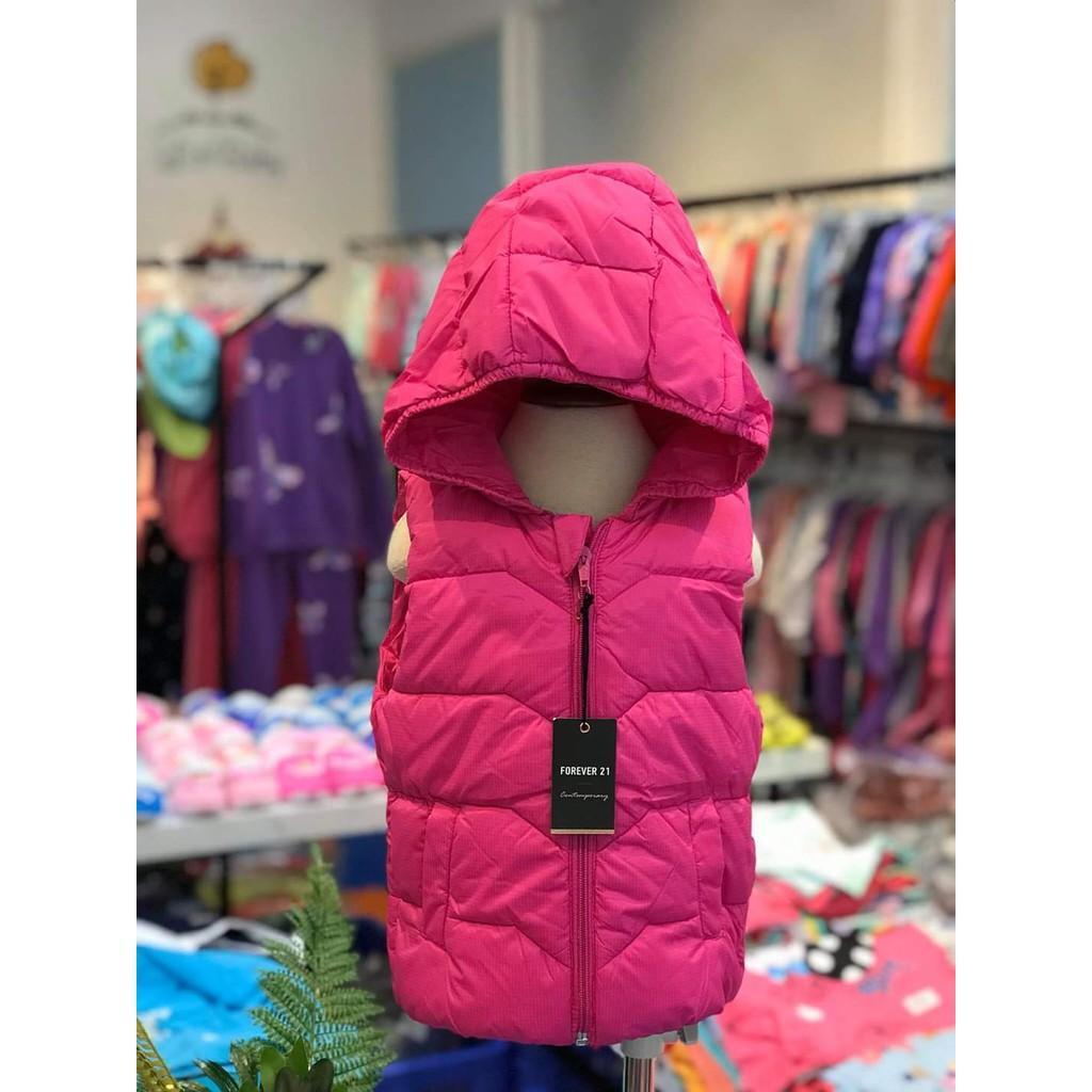 Áo  phao ghile bé trai bé gái có mũ hàng Forever 21 size 2-8 tuổi, dành cho bạn 11 đến 25kg