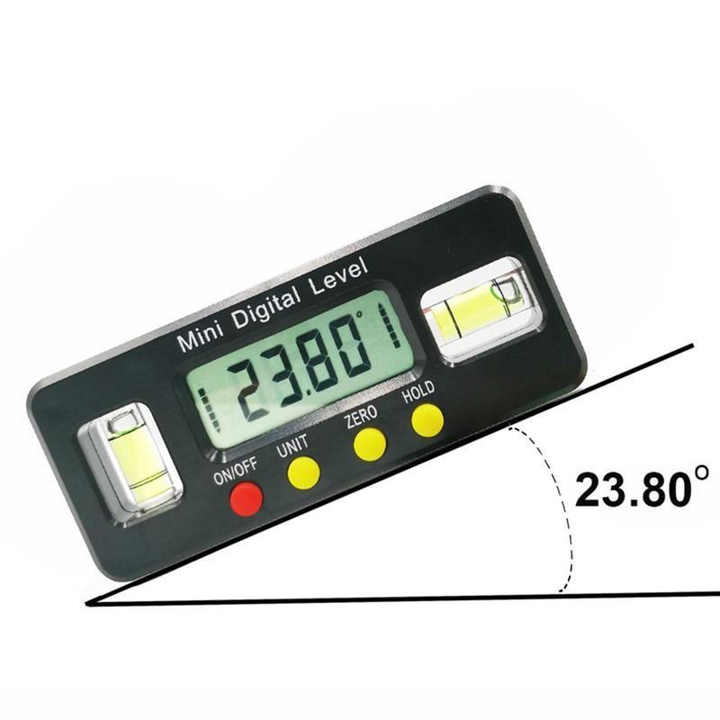 Thước Nivo,Ni vô cân bằng đo góc điện tử có nam châm dài 100mm 150mm kèm pin