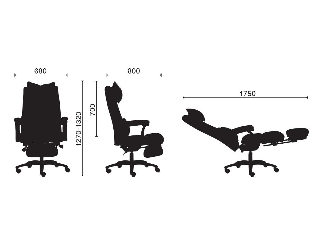 Ghế làm việc cao cấp gác chân thư giãn MNTC-20711-U1 (ĐEN)