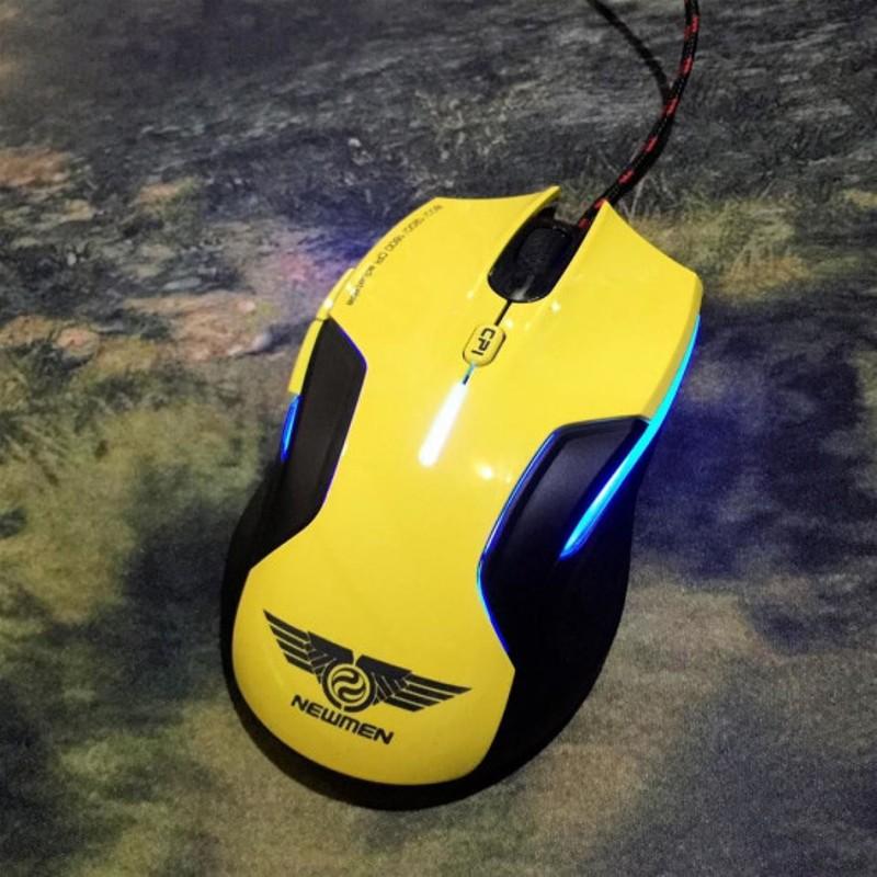 Chuột Gaming Có Dây Newmen N500Plus ( Màu Vàng ) _ Hàng Chính Hãng