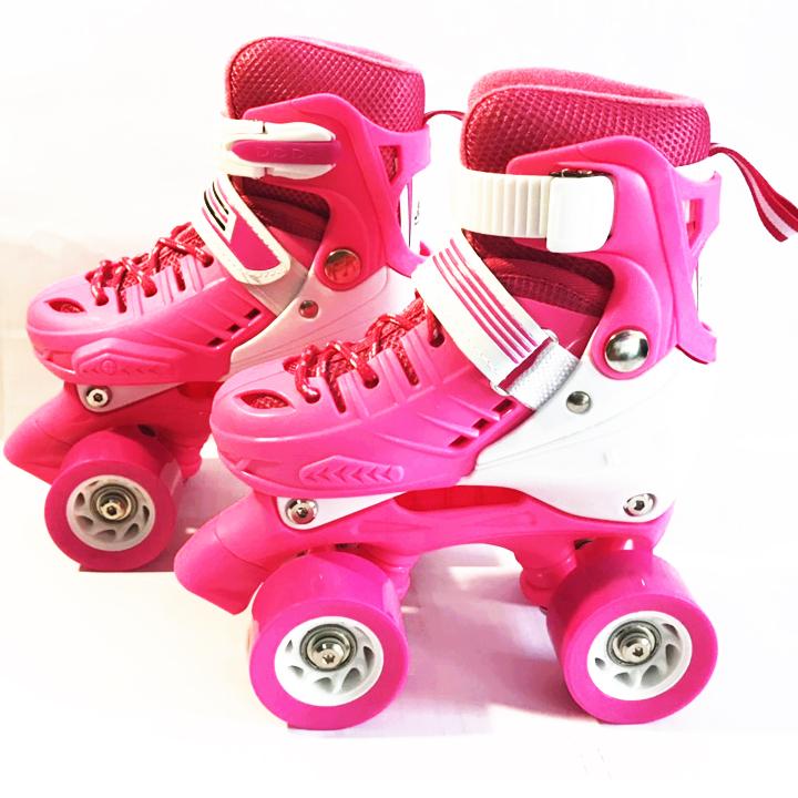 Giày Patin, Giày Trượt Patin 2 Hàng Bánh - Màu Hồng