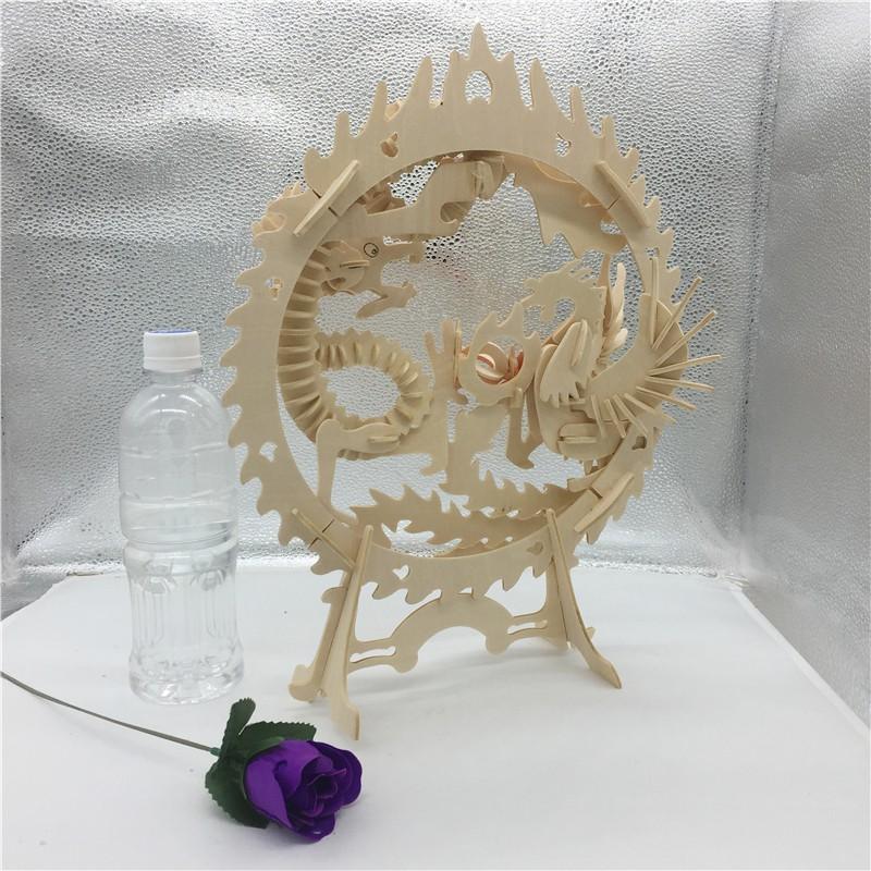Đồ chơi lắp ráp gỗ 3D Mô hình Long Phụng