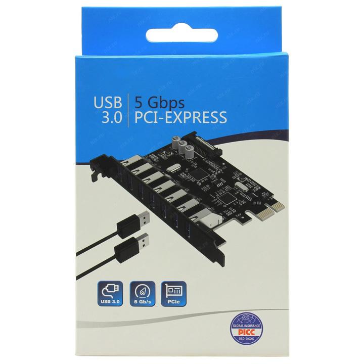 Card chuyển đổi PCI-E ra 7 cổng USB3.0 PVU3-7U