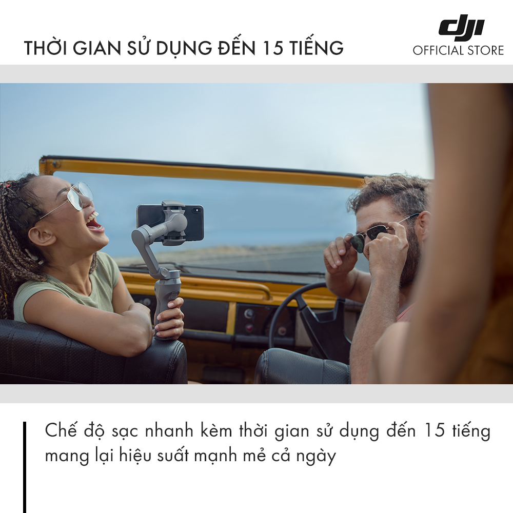 Tay Cầm Gimbal Chống Rung Điện Thoại DJI Osmo Mobile 3  Combo - Hàng Chính Hãng - Bảo Hành 12 Tháng