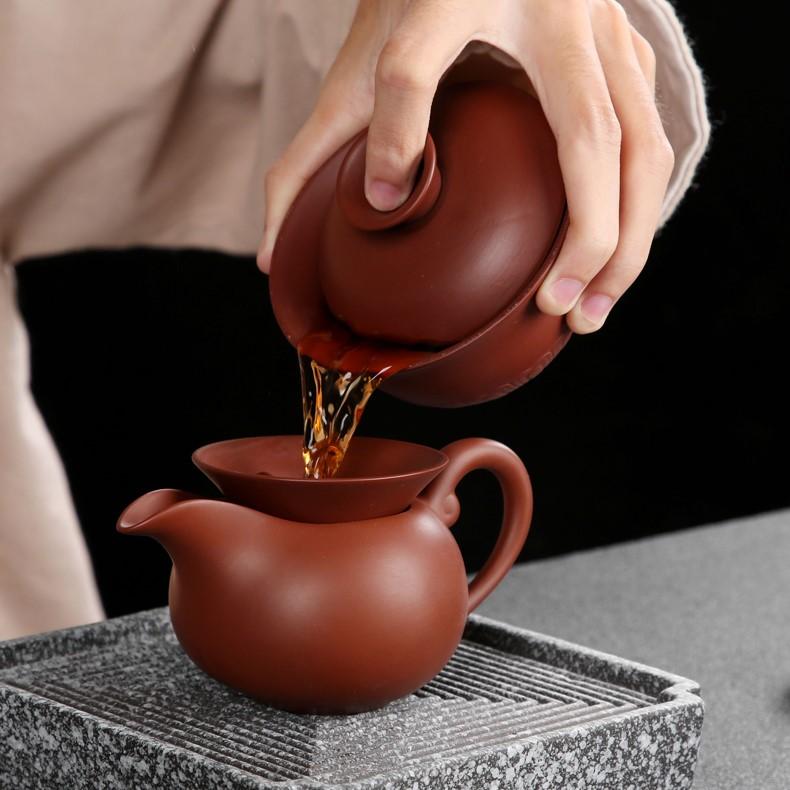 Bàn trà điện thông minh Phật Di Lặc – Ấm chén đại hồng bào