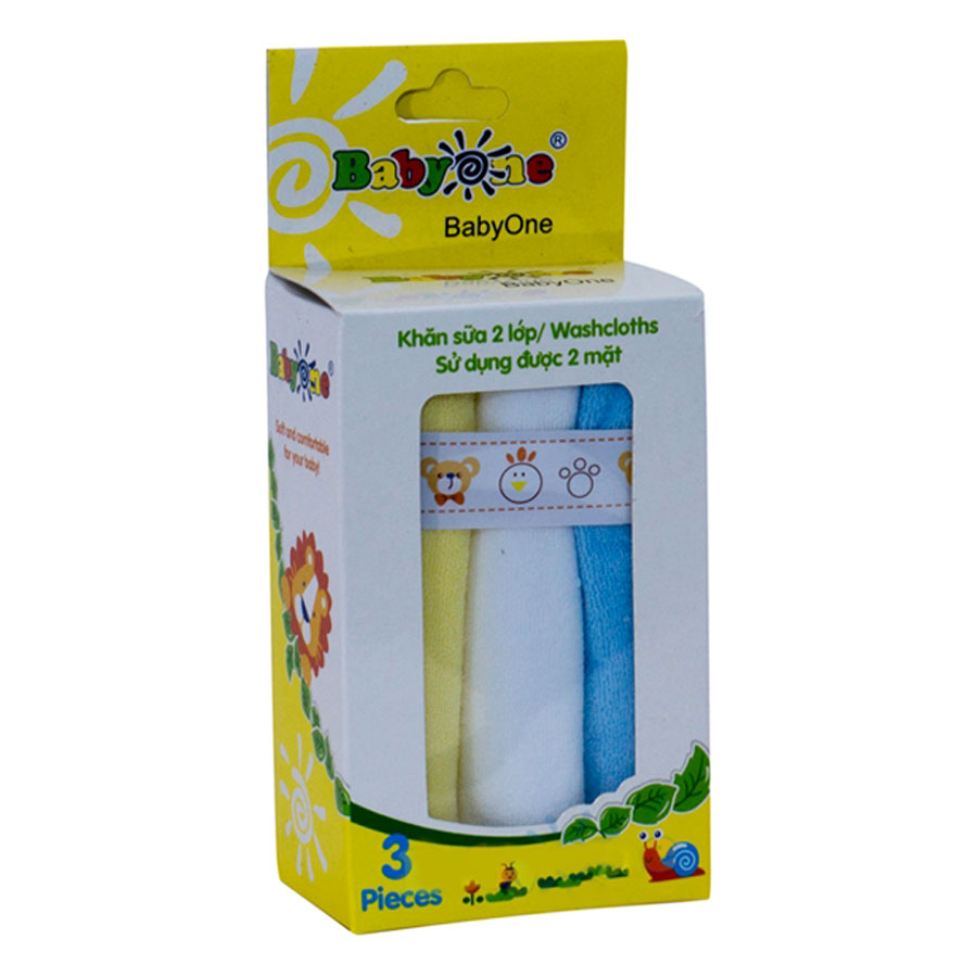 Khăn Sữa BabyOne SS0642 (2 Lớp)