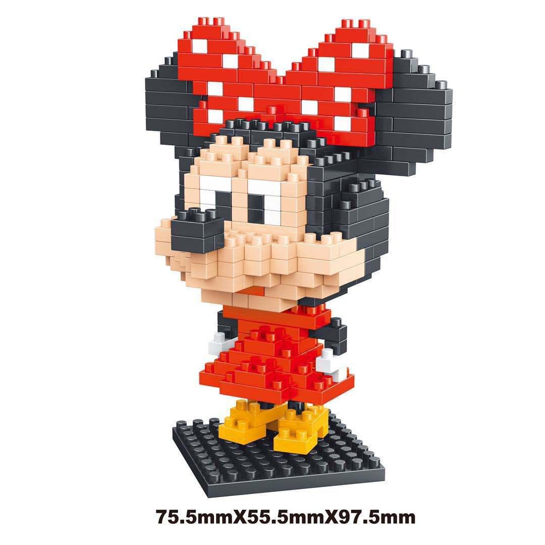 Bộ lắp ráp mini mô hình nhân vật hoạt hình