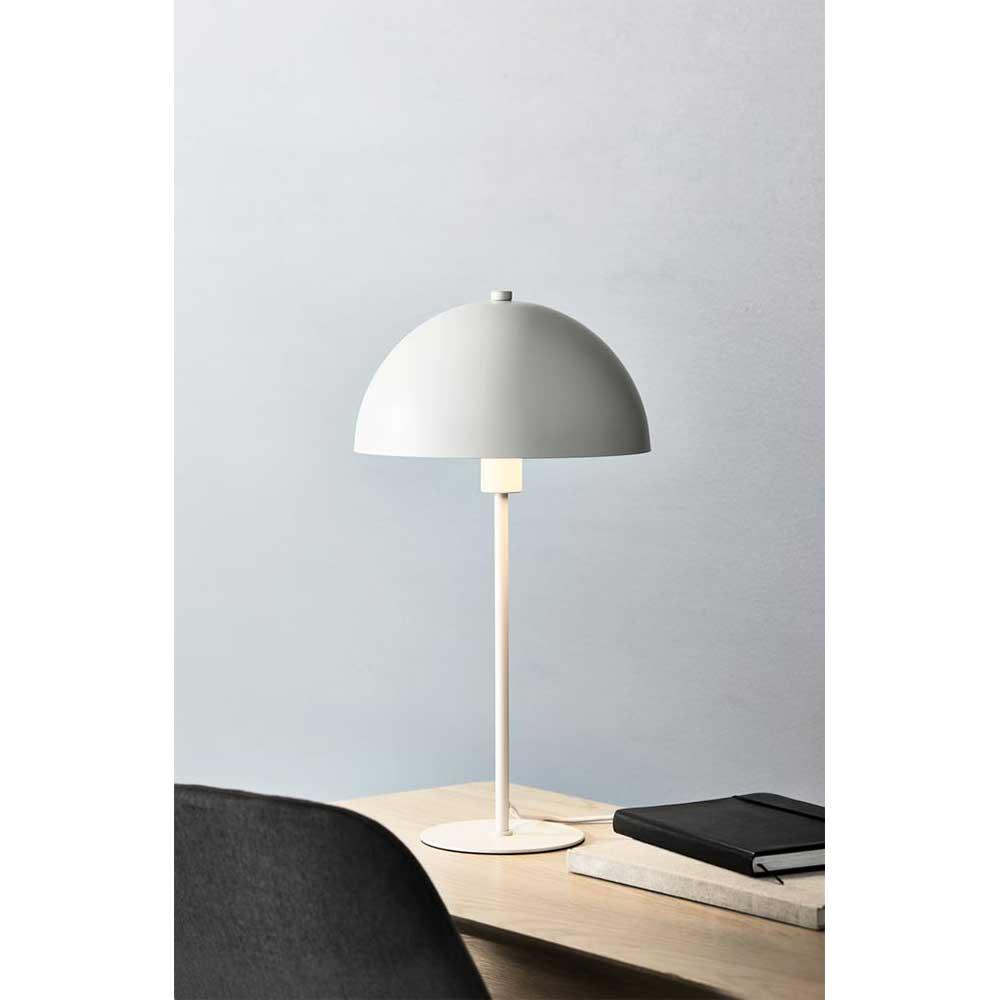 Đèn bàn JYSK Helgi nhựa/kim loại màu trắng DK25xH46cm