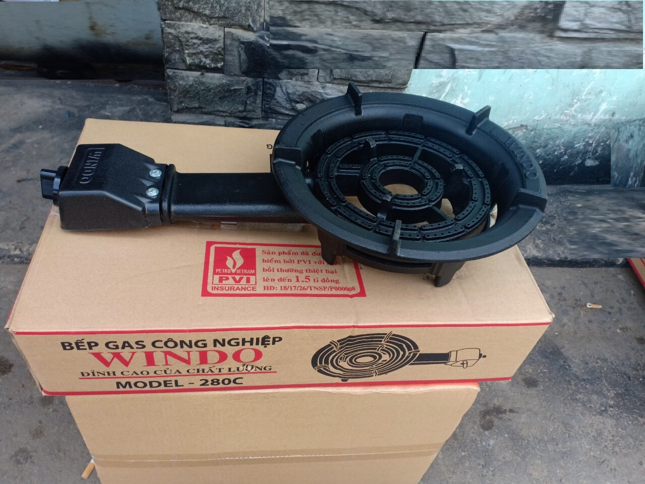 Bếp gas công nghiệp Windo- 280c ,tặng dây -Hàng Chính Hãng