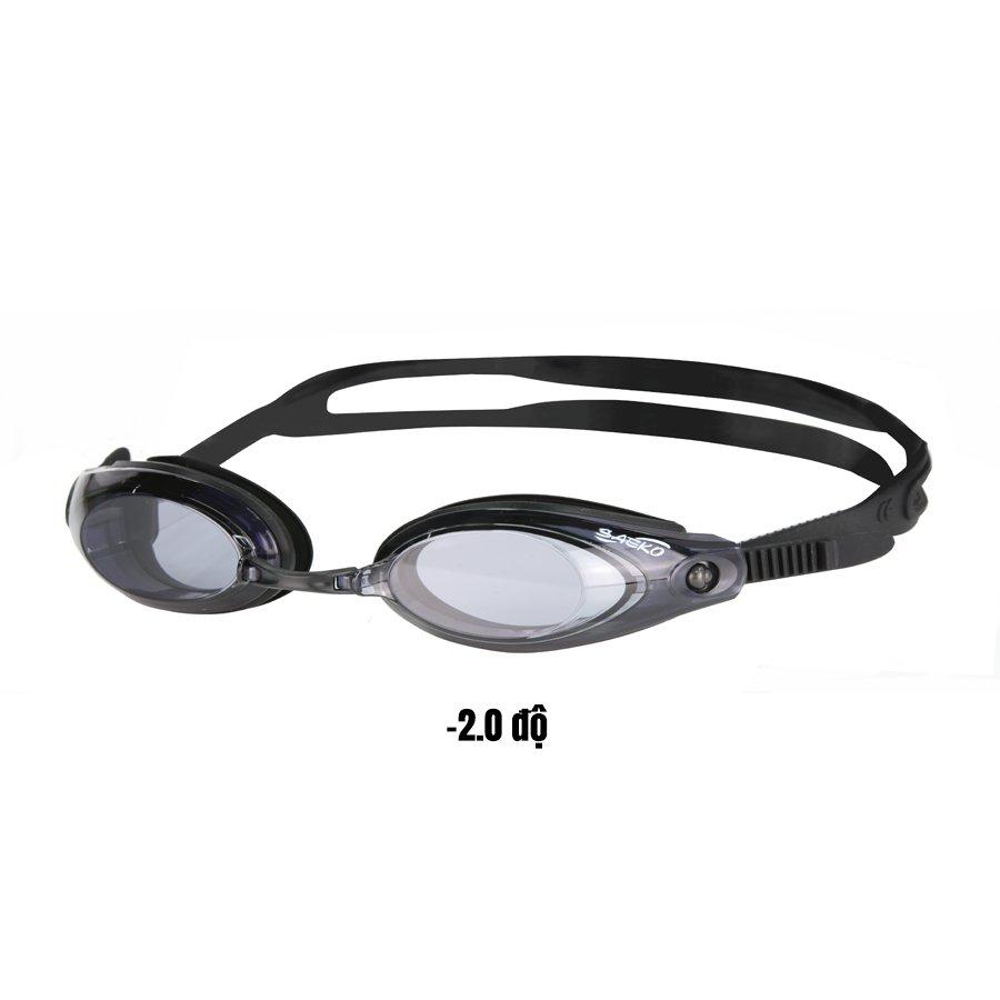 Kính bơi S42AOP có độ chính hãng SAEKO - Phù hợp người cận từ 2-8 độ  - Chống tia UV - Kèm cầu mũi