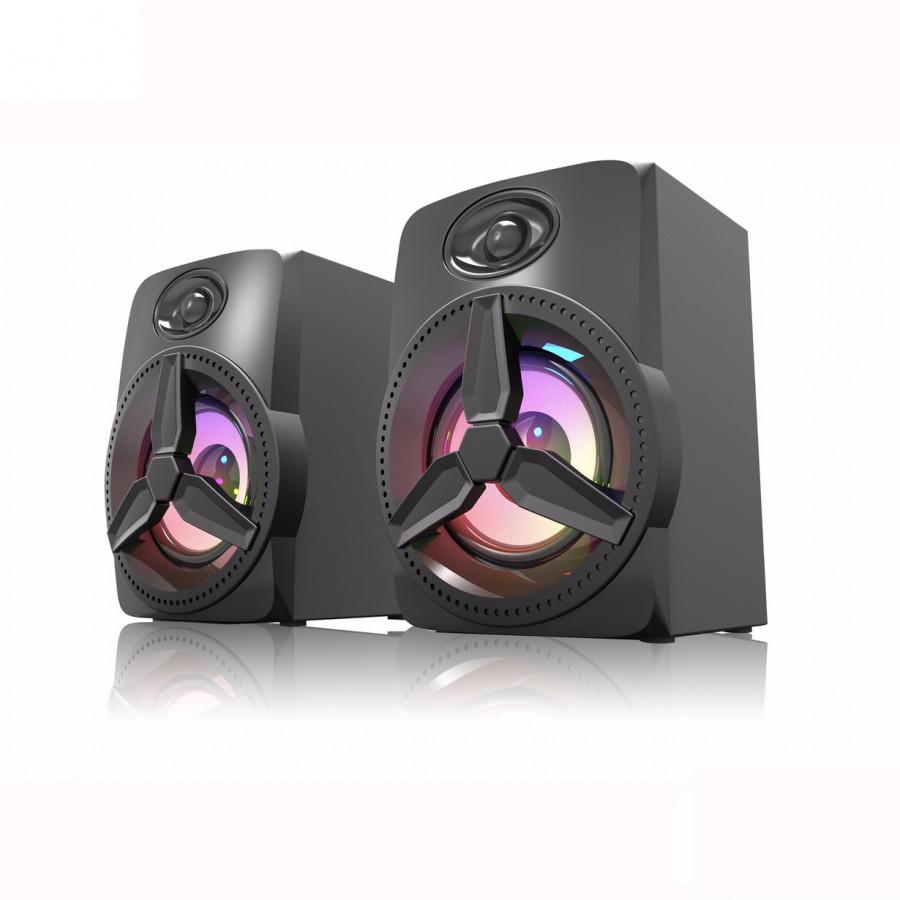 Loa vi tính 2.0 Bosston Z230 Led RGB - Hàng chính hãng