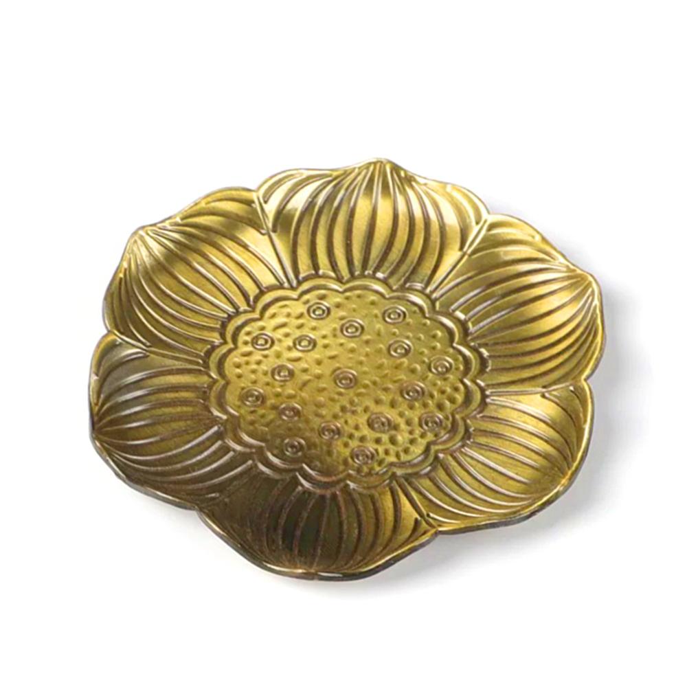 Đĩa đặt đế cắm nhang vòng, đặt hương cây hình hoa sen để lư trầm phụ kiện thác khói
