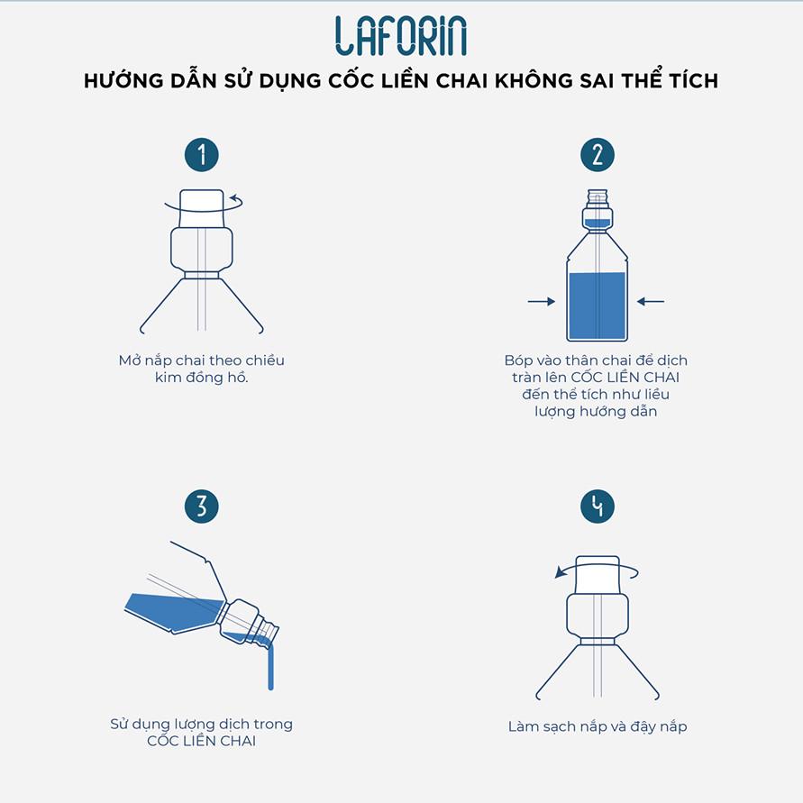 Nước súc miệng sát khuẩn Laforin dành cho người lớn, hương bạc hà không cay xót, ngăn ngừa bệnh răng miệng, nhiệt miệng, hôi miệng, giữ cho hơi thở thơm mát (250ml/chai)