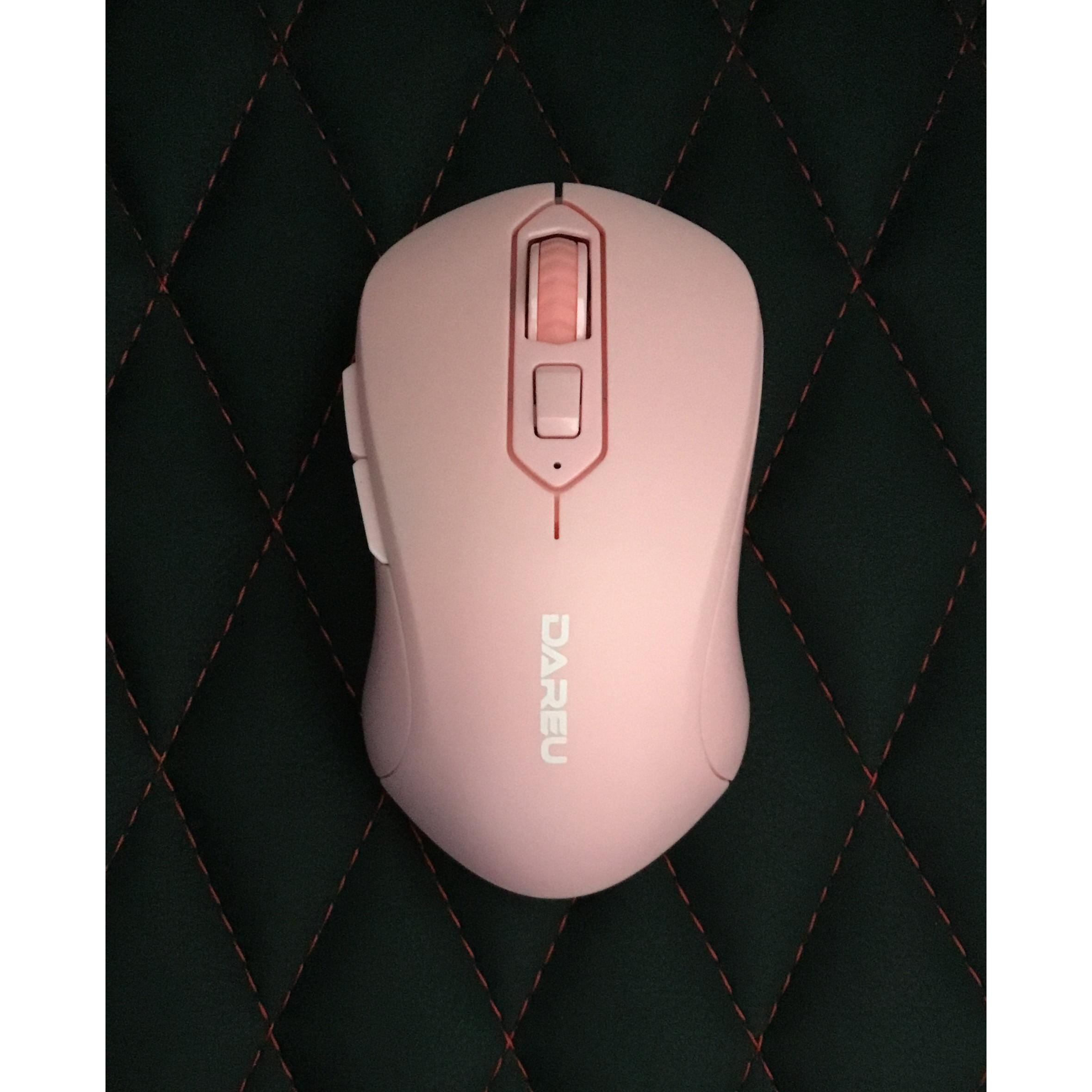 Chuột không dây Dareu LM115G Multi-Color Pink - Hàng chính hãng