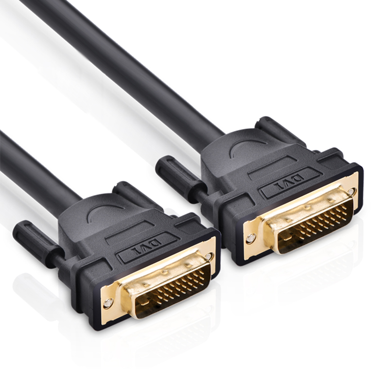 Cáp tín hiệu DVI-D (24+1) 2 đầu đực dài 10m UGREEN DV101 11609 (đen) - Hàng Chính Hãng