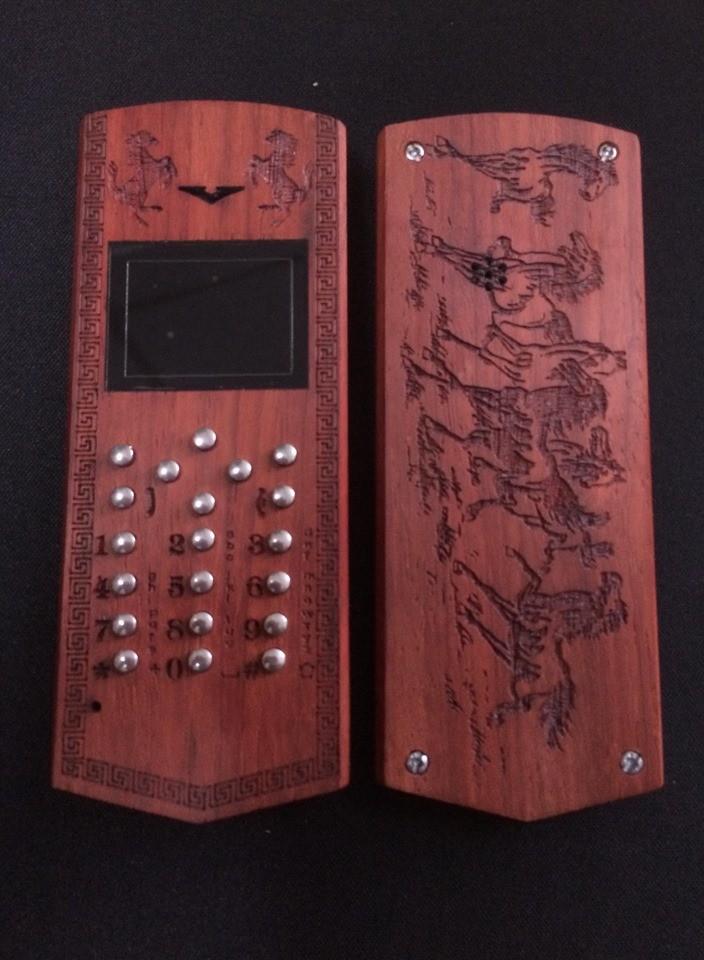 Vỏ gỗ cho điện thoại Nokia 1280 mẫu Trống đồng