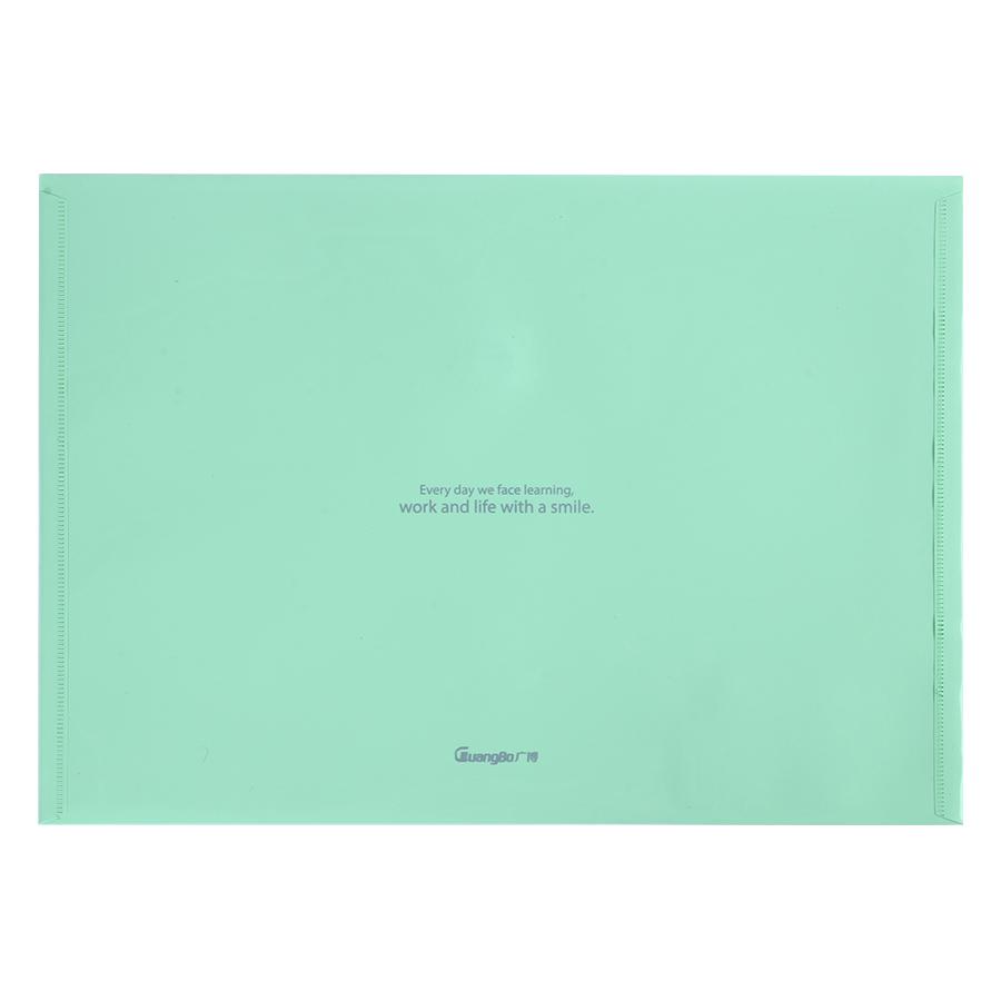 Bìa Nút Dán Guangbo A4 9037 (2 Cái / Xấp) - Xanh Lá