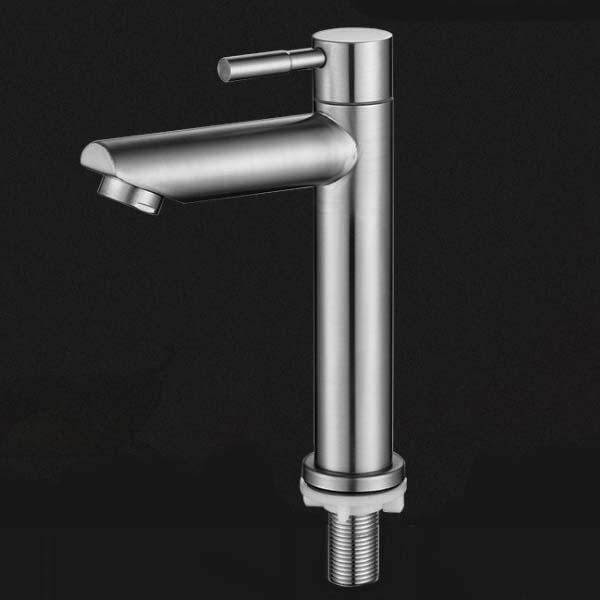 Vòi lavabo lạnh chất liệu inox 304 cao cấp AC-001