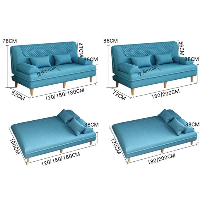 Ghế sofa gấp đa năng m2, sofa giường, ghế sofa giường nằm GSF008.