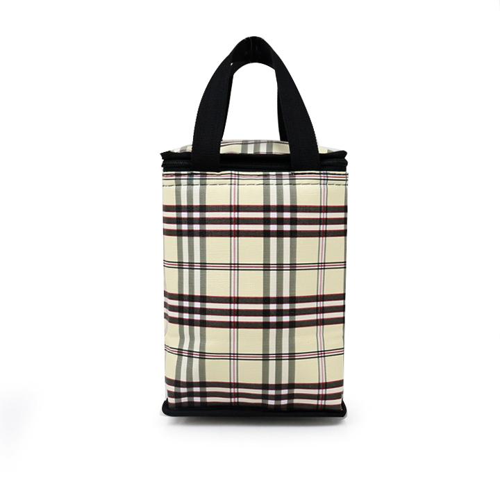 Túi giữ nhiệt kiểu đứng caro thổ cẩm