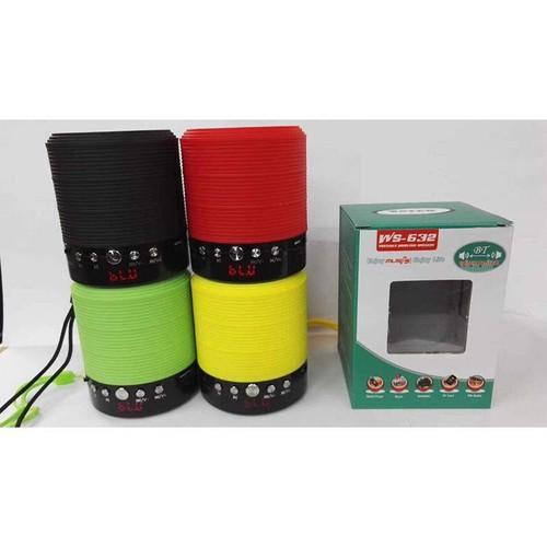 Loa Bluetooth Đa Năng Không Dây WS-632 - Có Màn Hình Led (Giao Màu Ngẫu Nhiên)