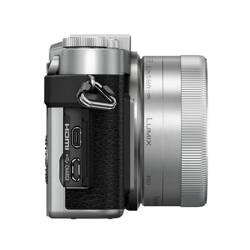 Máy ảnh Panasonic Lumix GF10 + kit 12-32MM (Bạc) + Pin + Quà tặng : Túi, thẻ nhớ - Hàng Chính Hãng