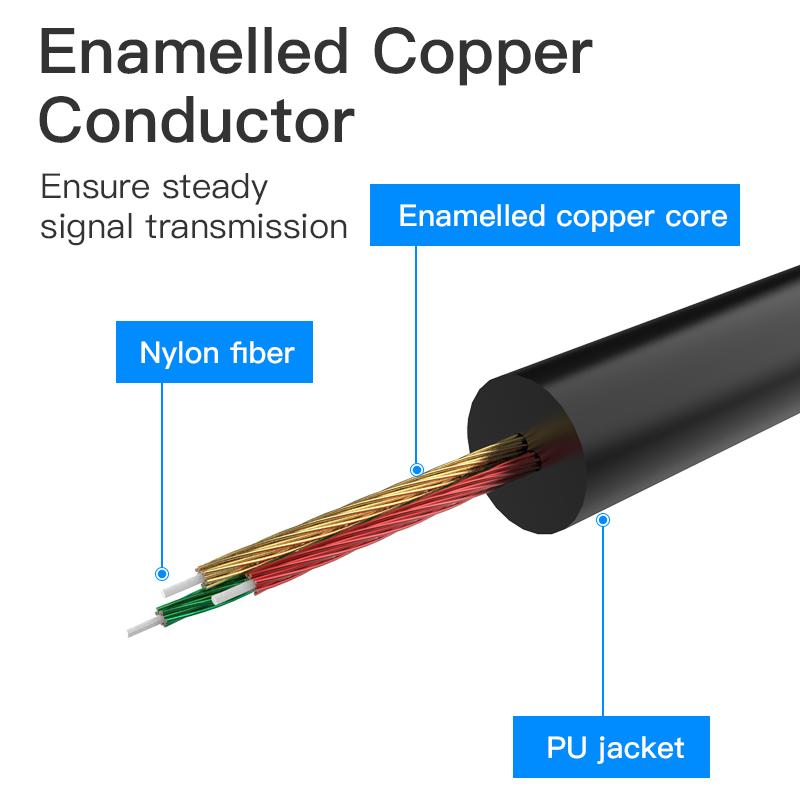 Cáp chuyển đổi Type-C to Audio 3.5mm dạng xoắn,độ dài 1m - Vention BGABF - Hàng Chính Hãng