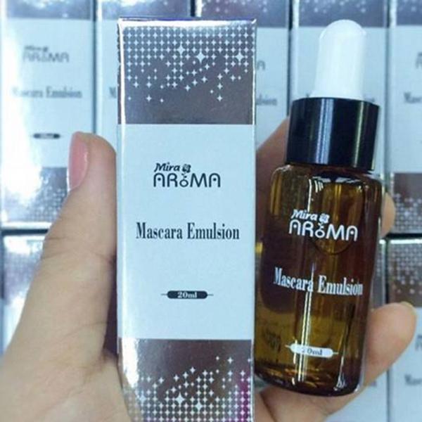 Nước pha Mascara không vón cục Mira Aroma Hàn Quốc 20ml tặng kèm móc khoá