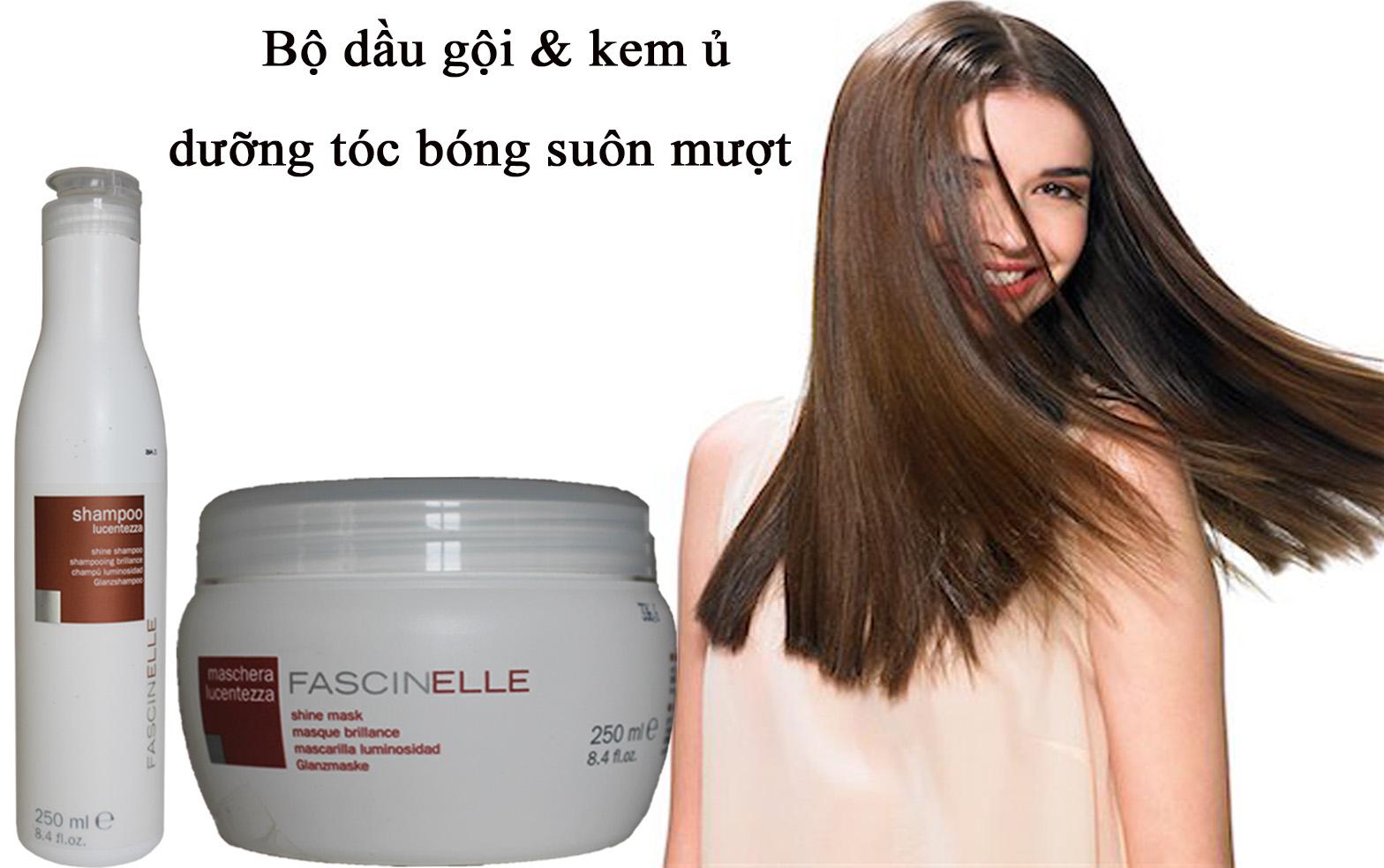 Bộ dầu gội và kem ủ xả dưỡng cho mái tóc bóng suôn mượt và quyến rũ Fascinelle ( Ý ) - DMC015