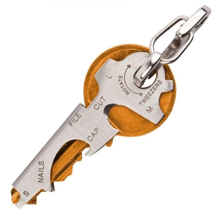 Móc chìa khóa đa năng 7 trong 1 (Tặng kèm miếng thép đa năng 11in1)