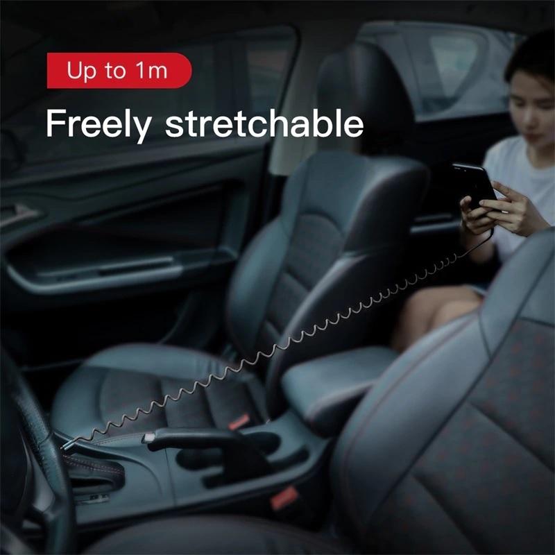 Dây cáp sạc lò xo Lightning dành cho iPhone iPad Baseus Spring 1m sạc nhanh - Hàng chính hãng