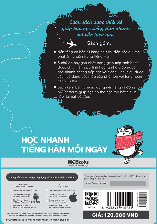Học Nhanh Tiếng Hàn Mỗi Ngày (Học Kèm App: MCBooks Application)