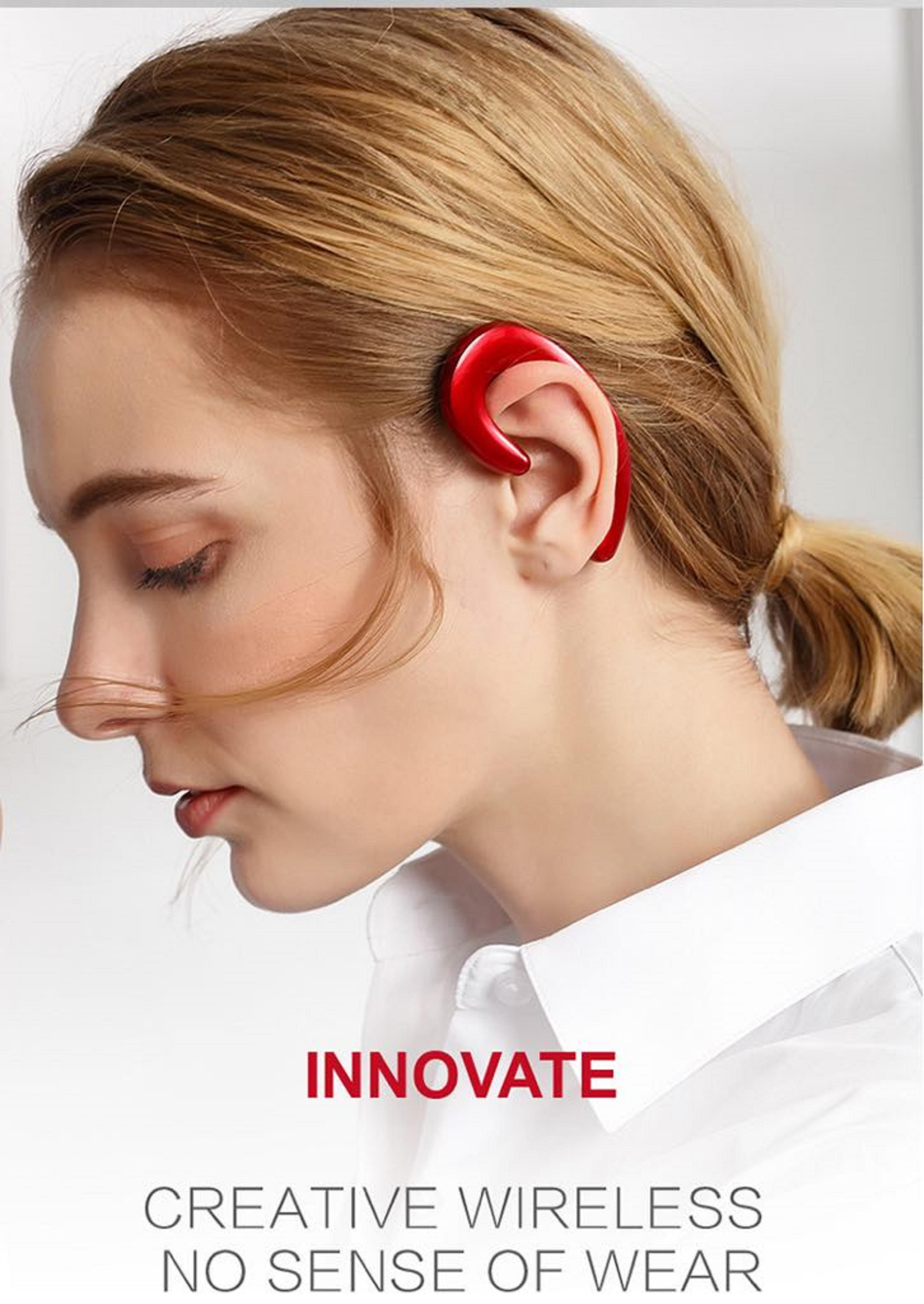 Tai nghe Bluetooth treo tai S103  Màu Đỏ