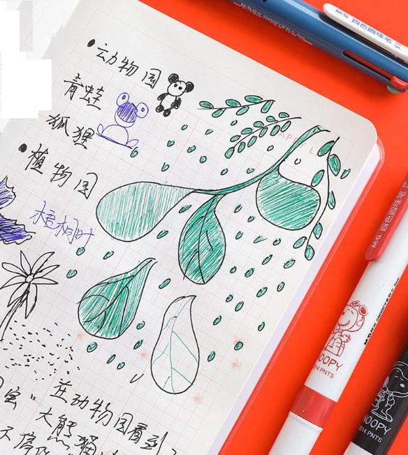 Bút 4 ngòi Kawai M&G- màu mực đỏ, đen, xanh dương, xanh lá-SBP80603-1 cây