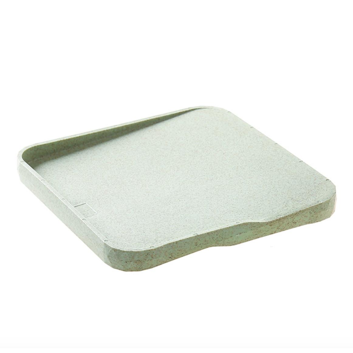 Thớt khay đựng thực phẩm chất liệu lúa mạch 2 in 1 22x22x2cm