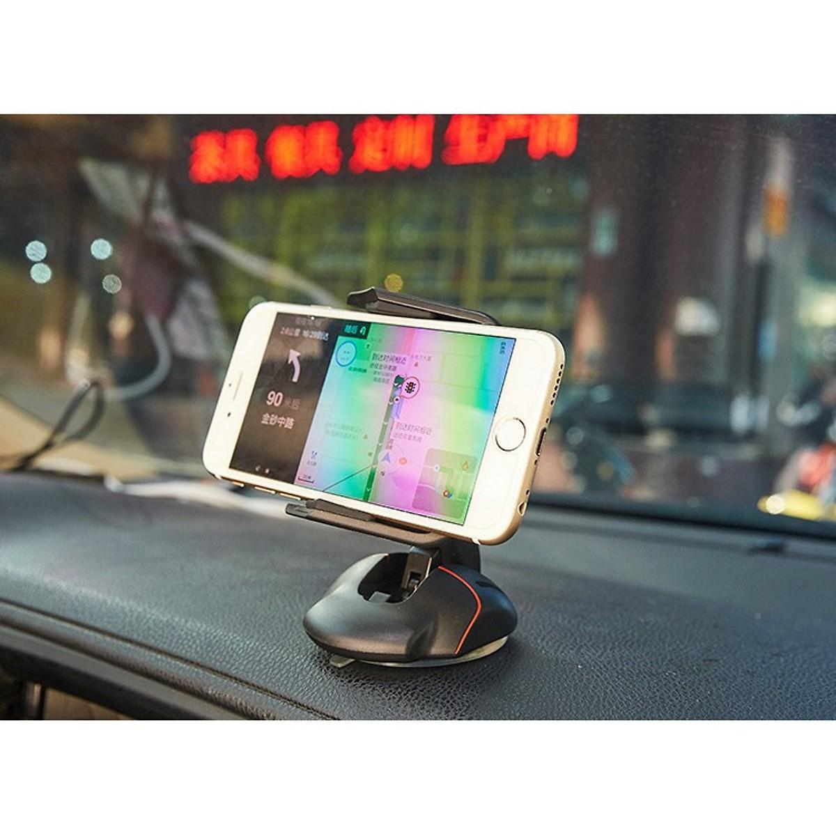 Giá đỡ kẹp điện thoại nhỏ gọn , xếp nhỏ hình chiếc chuột thuận tiện ( đế hít dán chân không)