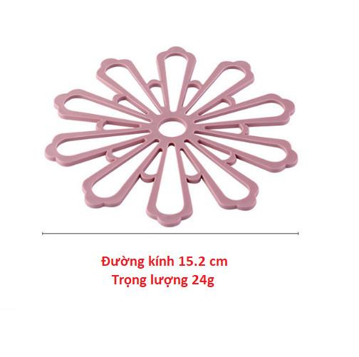 Miếng lót nồi chống nóng vòng tròn hình hoa tuyết xinh xắn GD179-LNTuyetnho-5 (giao màu ngẫu nhiên)