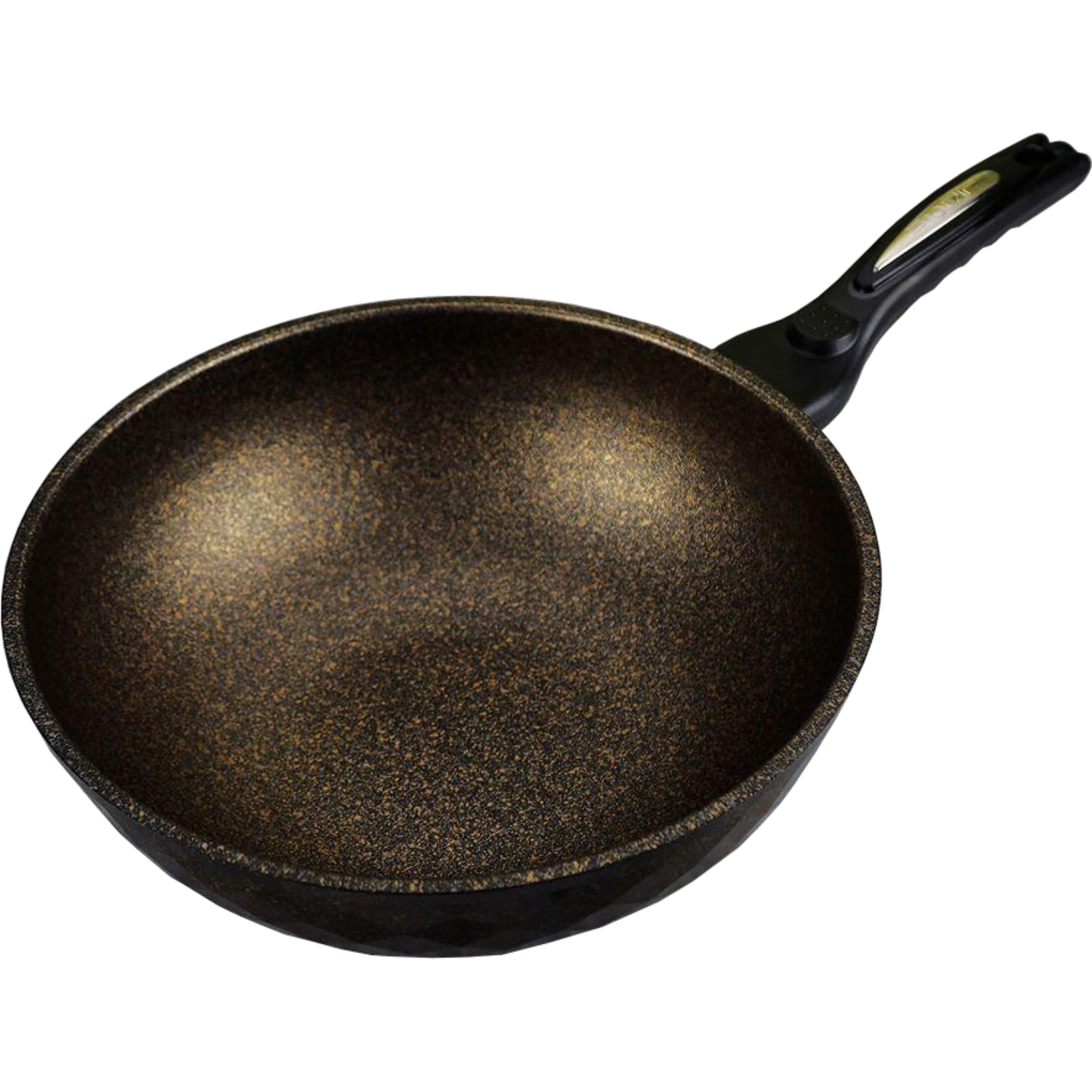 Chảo chống dính sâu lòng đá cẩm thạch  thương hiệu Kitchen Art size 28cm nhập khẩu Hàn Quốc dùng cho mọi loại bếp kể cả bếp từ