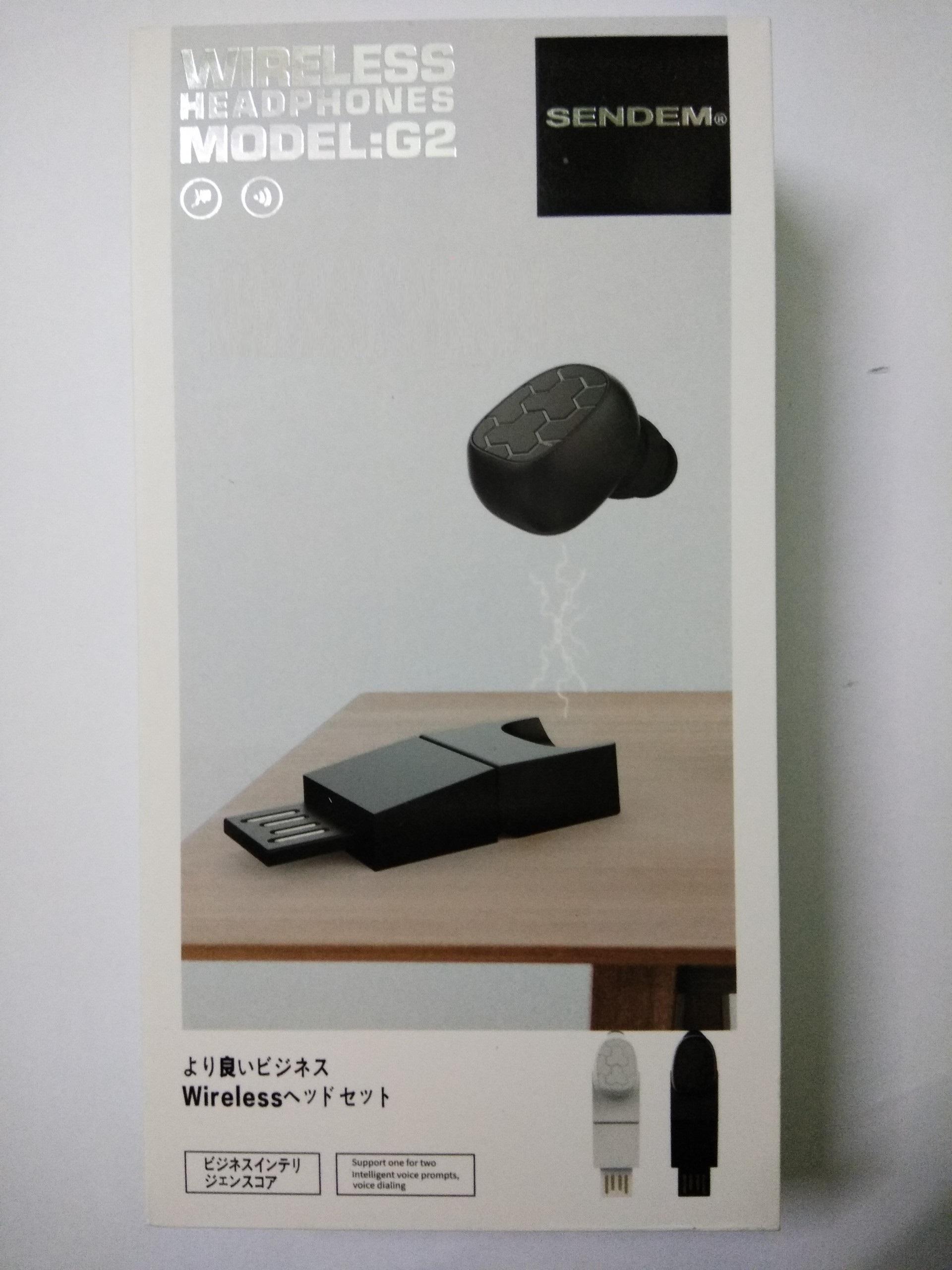 Tai nghe Bluetooth mini Sendem G2 nam châm từ trực tiếp sạc - Hàng chính hãng