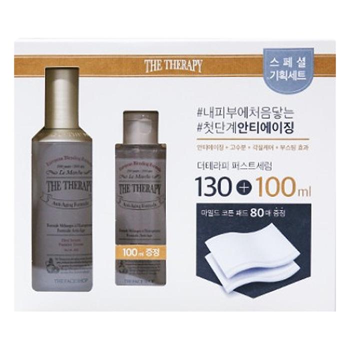 Bộ Dưỡng Phục Hồi Da THEFACESHOP The Therapy First Serum Special Set (3 Món 130ml+100ml+80pcs)