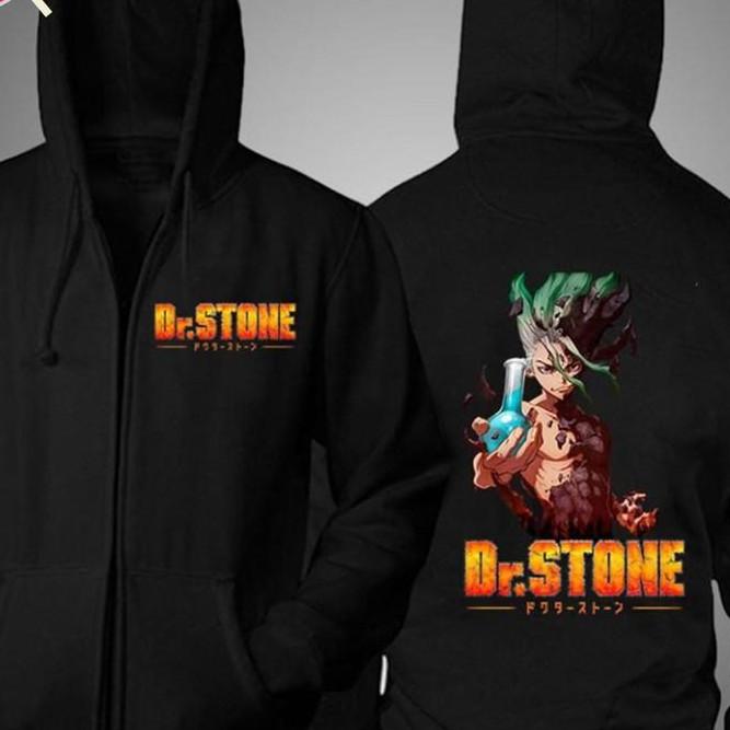 Áo khoác Dr.Stone màu đen