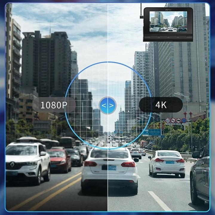 Camera hành trình ô tô Xiaomi 70mai cao cấp A800S chất lượng hình ảnh 4K, tích hợp Wifi (Bộ tích hợp Camera trước + Sau) -  Bản Quốc Tế - Hàng Nhập Khẩu