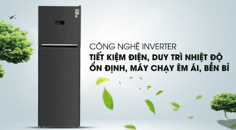 Trang bị công nghệ Inverter hiện đại - Tủ lạnh Beko inverter 360 lít RDNT360E50VZWB
