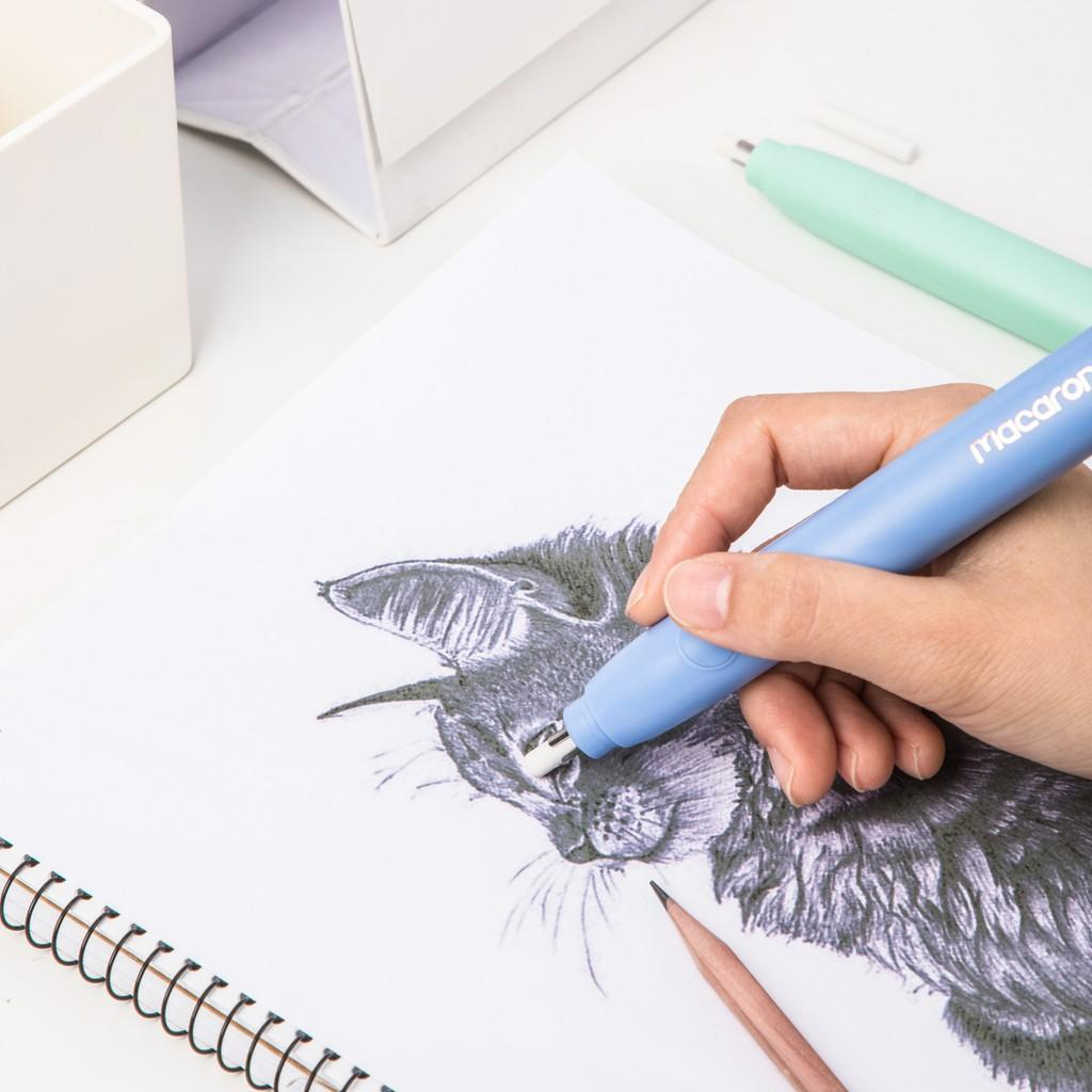 Bút tẩy điện bao gồm 20 đầu tẩy thay thế DELI EH02800